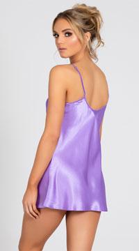 Sexy Satin Chemise - Lavender