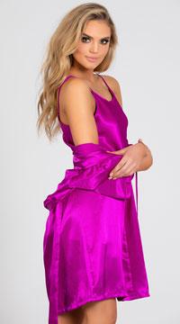 Sexy Satin Chemise - Purple