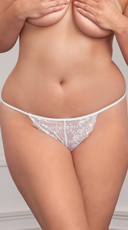 Plus Size Flirty Scallop Lace G-string - as shown