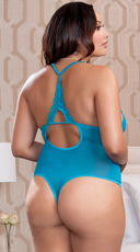 Plus Size Black Tantalizing Teddy - Teal