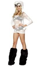 Black and White Raver Girl - as shown
