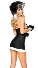 Zipper Front Athletic Dress - Black