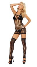 Net Tube Dress - Black