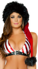 Red and Black Santa Hat - Red/Black