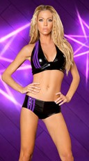 Striped Metallic Short and Halter Top - Black/Purple