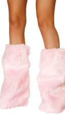 Faux Fur Leg Warmers - Baby Pink