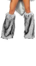 Wolf Legwarmers - Silver/White