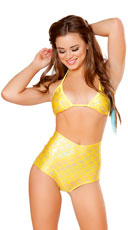 Golden Glow Mermaid Costume - as shown