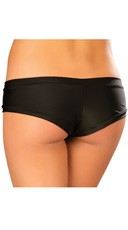 Banded Booty Shorts - Black