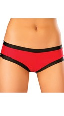 Banded Booty Shorts - Red/Black