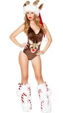 Reindeer Romper - Brown