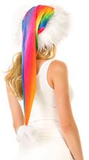 Long Rainbow Santa Hat - Rainbow