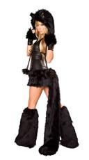 Black Cat Hood - Black