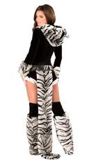 Deluxe White Tiger Romper Costume - as shown