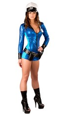 Deluxe Sexy Motorcycle Cop Costume - as shown