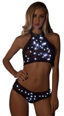 Light-Up Sequin Star Dance Set - as shown