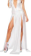 Long Sheer Skirt - Silver