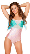 Strappy Mermaid Romper - Aqua