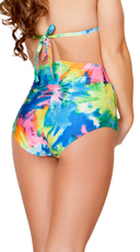 High Waisted Tie Dye Shorts with Zipper - Tie Dye
