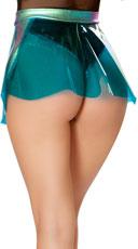 Clear Vinyl Skirt - Blue