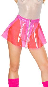 Clear Vinyl Skirt - Pink