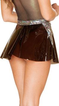 Clear Vinyl Skirt - Black