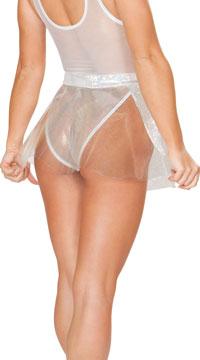 Clear Vinyl Skirt - Silver