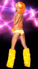 Tricot Knit Rave Wear Set - as shown
