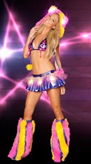 Light-Up Skirted Rave Wear Set - as shown