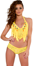 Cyclone Fringe Top and Shorts Set - as shown
