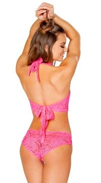 Cyclone Lace Short - Hot Pink