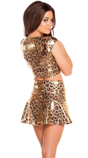 Gold Leopard Skirt Set - as shown