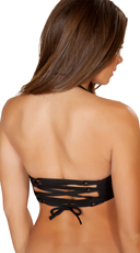 String Halter Top - Black