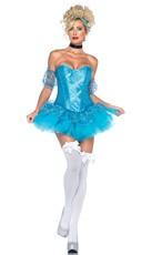 Sequin Cinderella Costume - Aqua