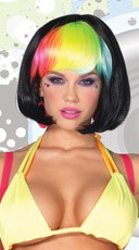 Pop Rainbow Bang Wig - Black