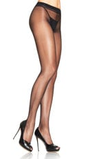 Lycra Sheer to Waist Support Pantyhose - Black