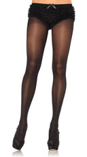 Opaque Sheer Tights - Black
