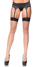 Baroque Cuban Heel Backseam Stockings - as shown