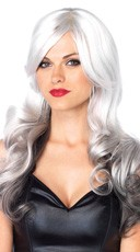 Long Allure Wig - Grey/Black