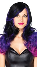 Long Allure Wig - Black/Purple