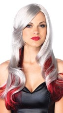 Long Allure Wig - Grey/Red