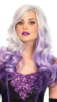 Long Allure Wig - Grey/Purple