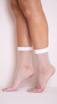 Fishnet Anklets - White