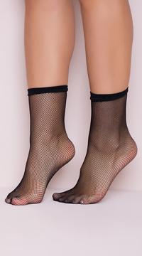 Fishnet Anklets - Black