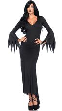 Floor Length Gothic Dress Costume - Black