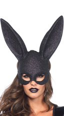 Glam Masquerade Rabbit Mask - Black