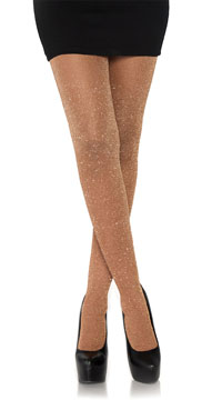 Look At Me Lurex Shimmer Tights - Rose Gold