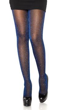 Look At Me Lurex Shimmer Tights - Royal Blue