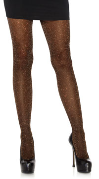 Look At Me Lurex Shimmer Tights - Copper