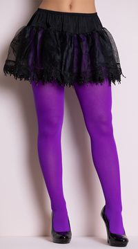 Nylon Tights - Purple